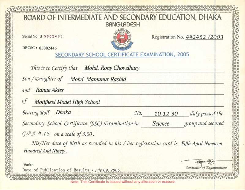 secondary school certificate ssc Board of intermediate and secondary education, jessore  secondary school certificate examination, 2018  re-scrutiny result (changed only) page no : 1.